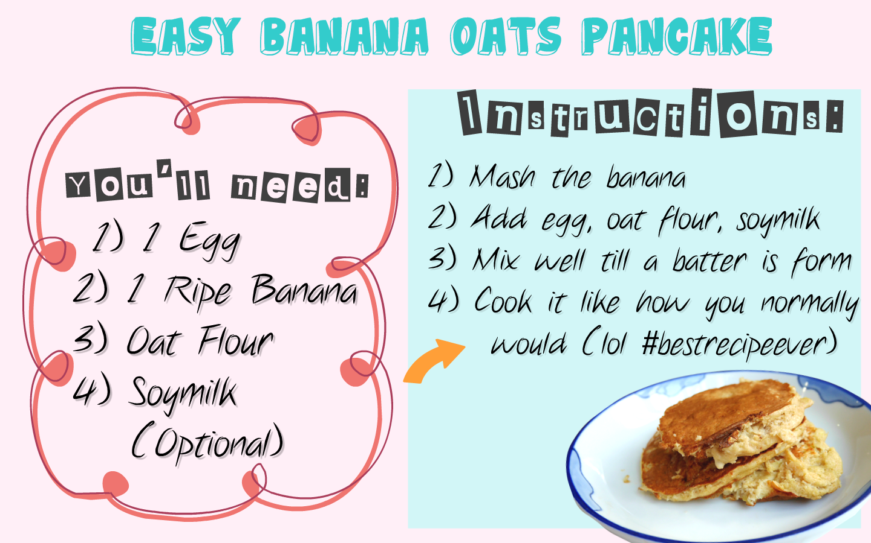 Clumsy Kitchen: EASY BANANA OATS PANCAKE!