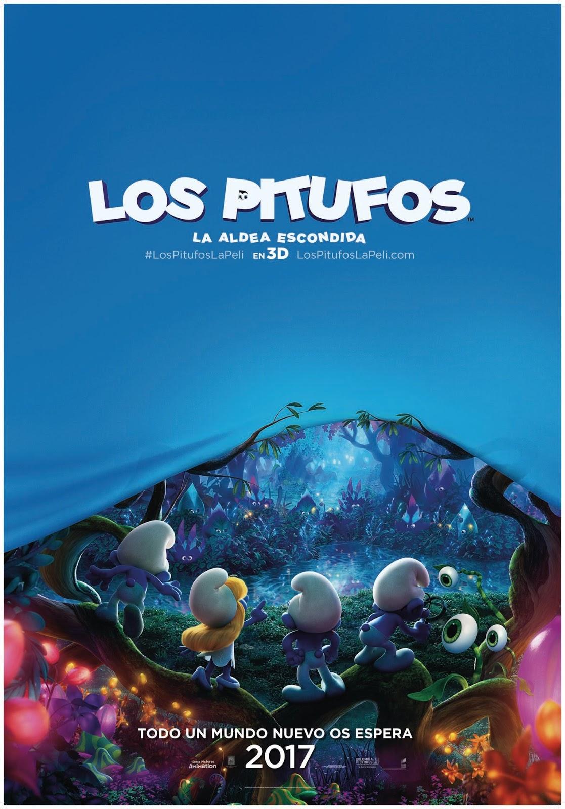 Teaser tráiler y póster español de 'Los Pitufos: La aldea perdida'