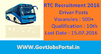 RTC Recruitment 2016