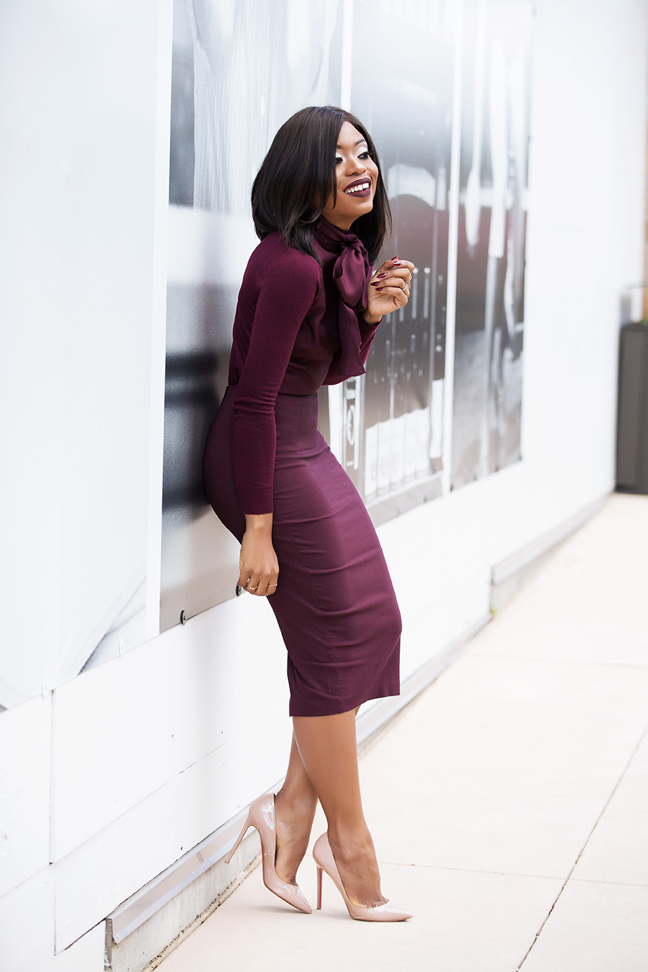 Fall work style, pencil skirt, www.jadore-fashion.com