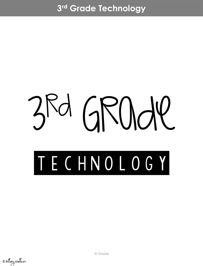 Technology Teaching Resources with Brittany Washburn: 3rd Grade ...