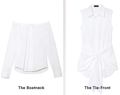 The Boatneck & The Tie-Front White Shirts
