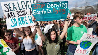 Hundreds of U.S. youth are planning to skip school to join a rally in Washington on Friday,