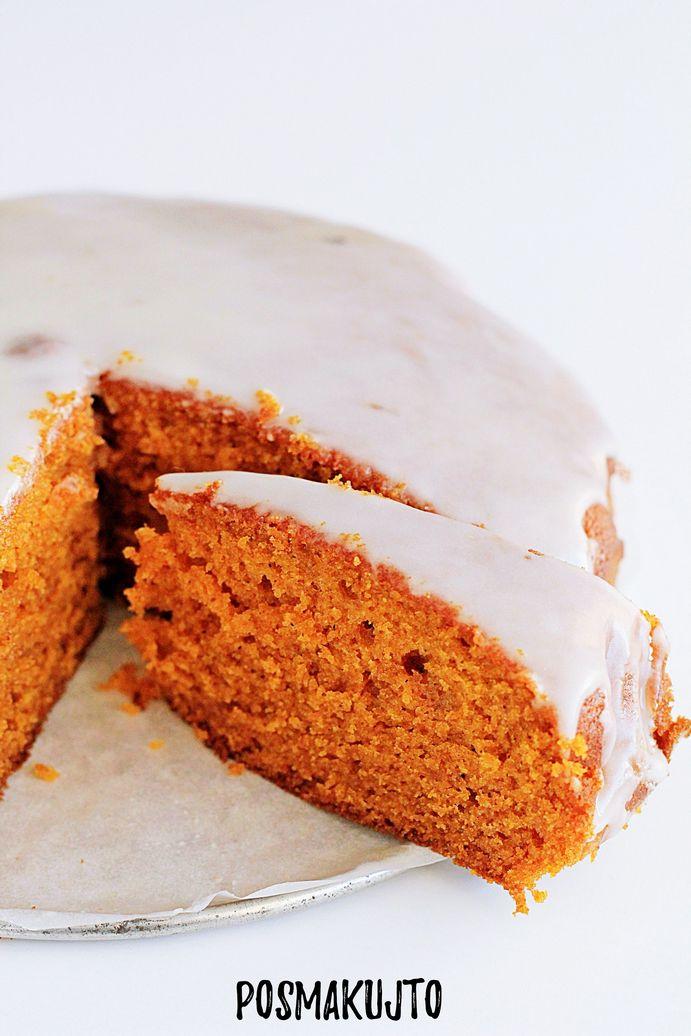 Ciasto dyniowe z lukrem pomarańczowym – puszyste i wilgotne!