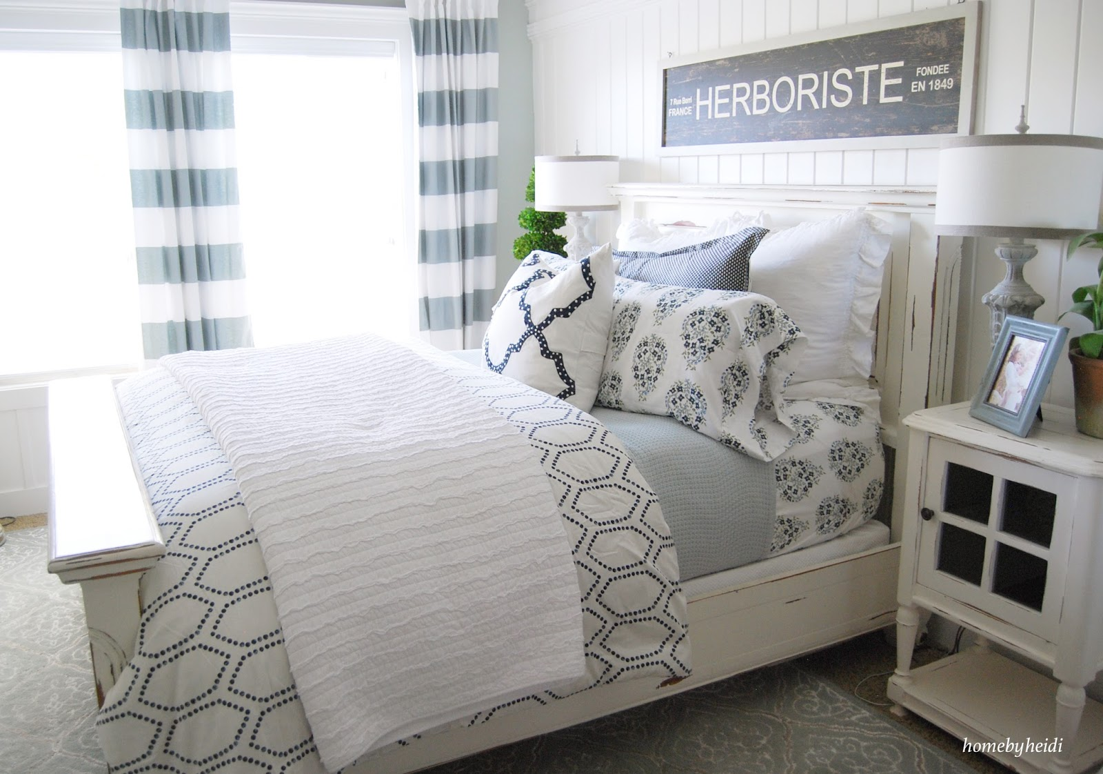 Home By Heidi: Navy Blue Bedroom Makeover