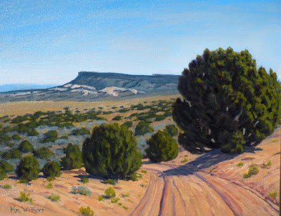 escalante utah plein air competition HM winner painting center street grand staircase landscape