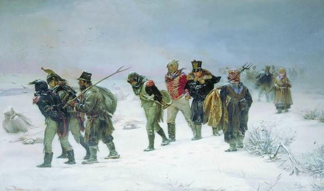 Pryanishnikov - Retirada de las tropas francesas de Rusia en 1812 - 1874