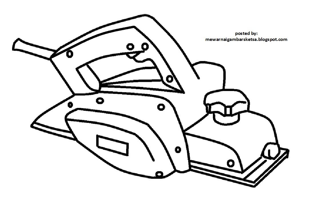 mewarnai gambar mewarnai gambar sketsa mesin serut kayu 1