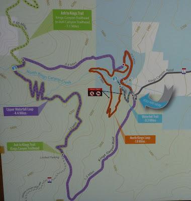 Kings Canyon Falls trail map