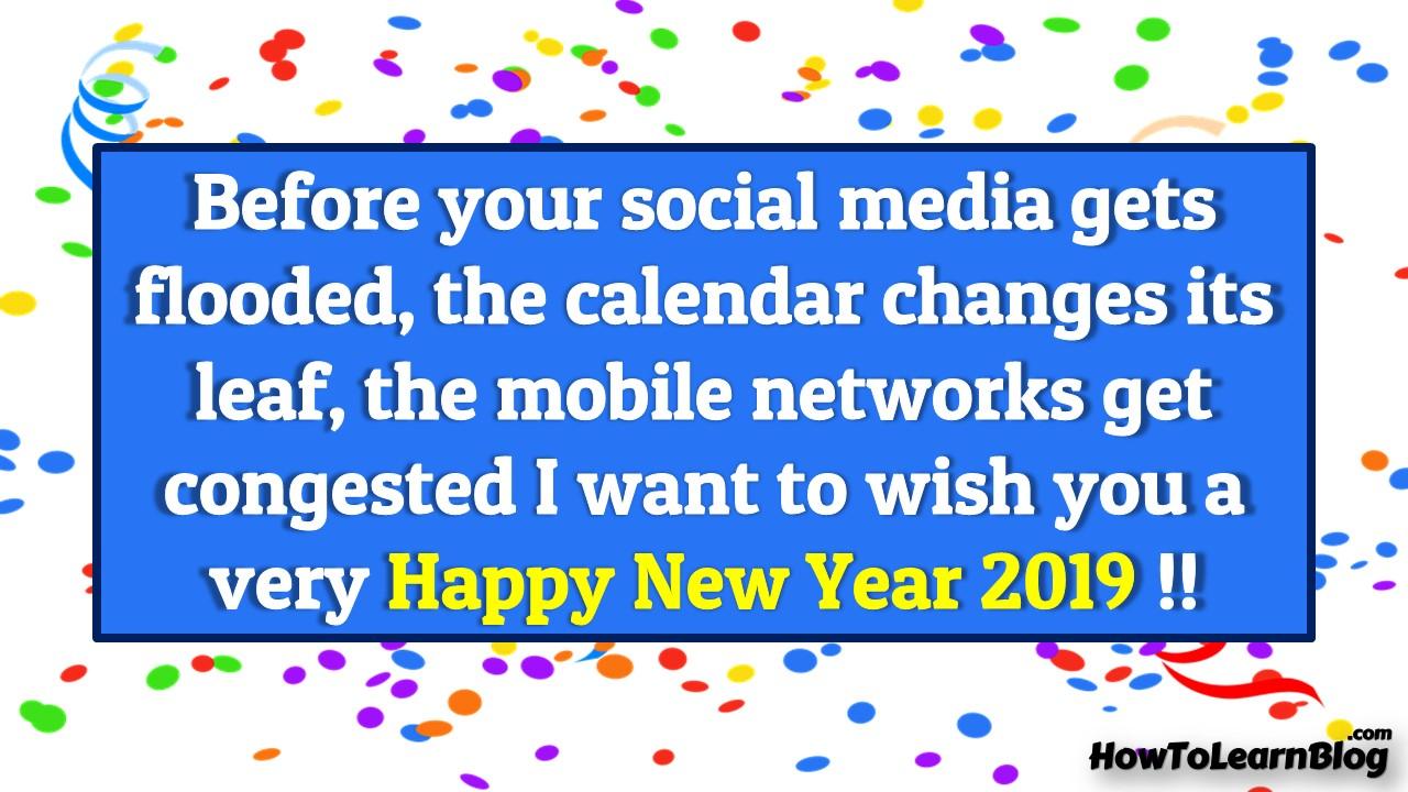 New Year Wishing Card 2019