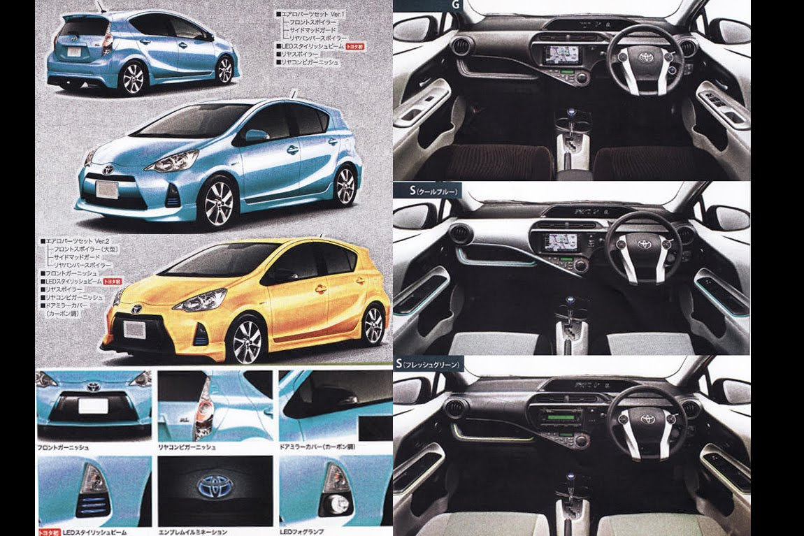 Carscoop: New Toyota Prius C: Leaked Brochure Reveals Standalone Small  Hybrid Hatch
