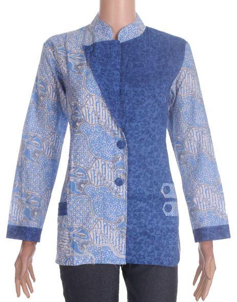 39 Model Baju Batik Embos Modern Terkini