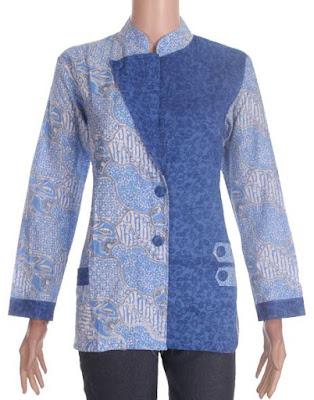 Model Baju Batik Embos Kombinasi