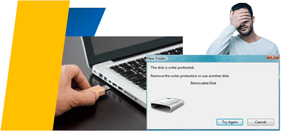 masalah flash disk write protected