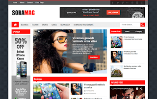 SoraMag Blogger Template
