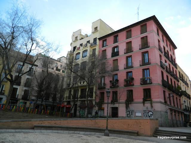 Praça Dois de Maio em Malasaña, Madri