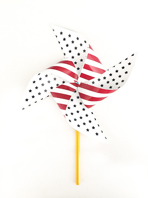 DIY Patriotic Pinwheels Tutorial | LollyJane