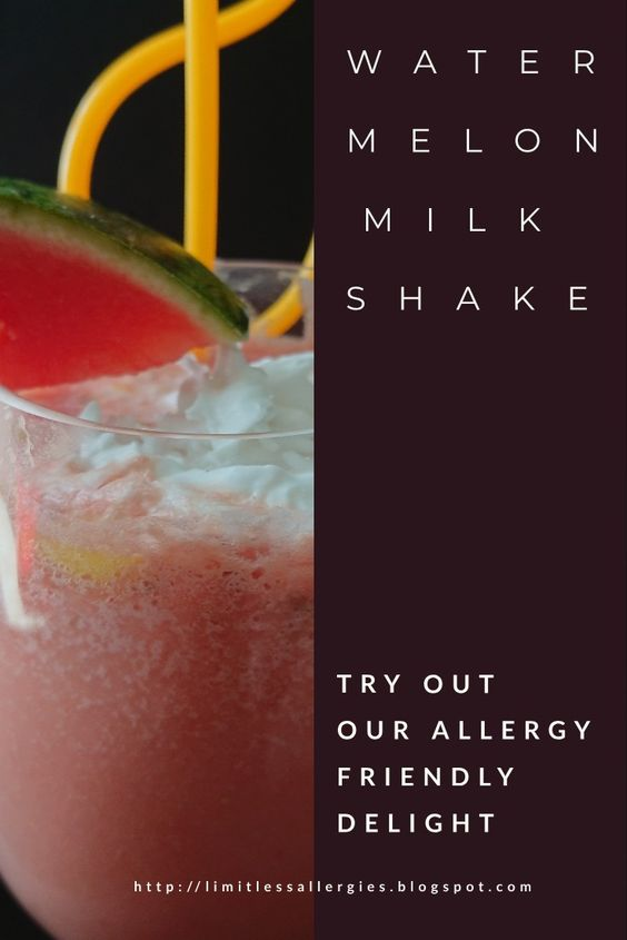 pinning image for Dairy Free Watermelon Milkshake