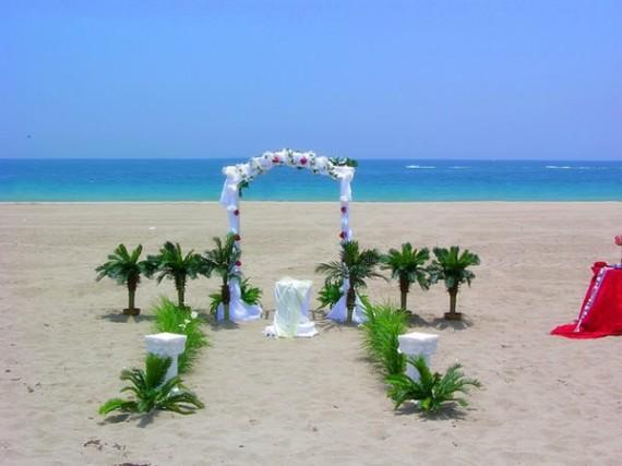 Wonderful Wedding Reception Decorations: Elegant Beach