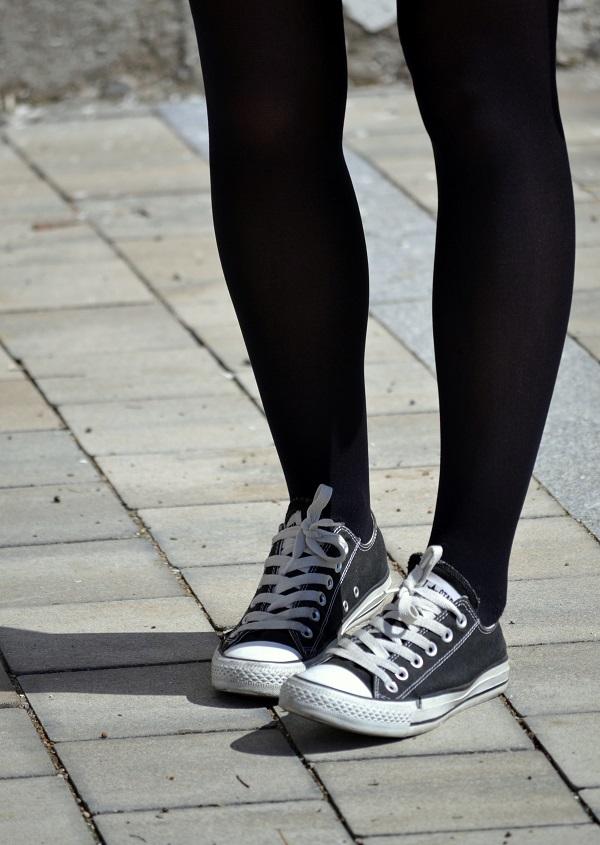 lingerie dress, Converse, Lara Pasarin