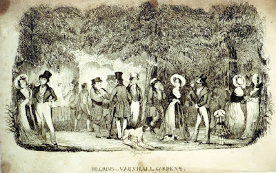 Print of Vauxhall Gardens from signboard in Vauxhall Gardens