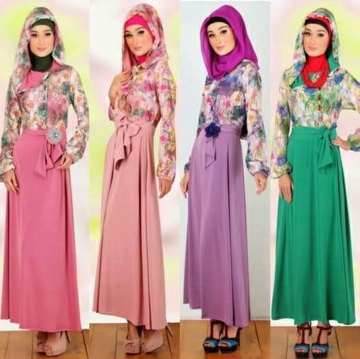 Model baju muslim remaja terbaru brokat