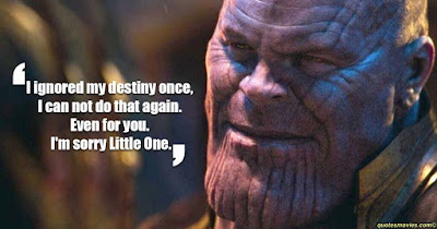 Thanos I ignore my destiny once