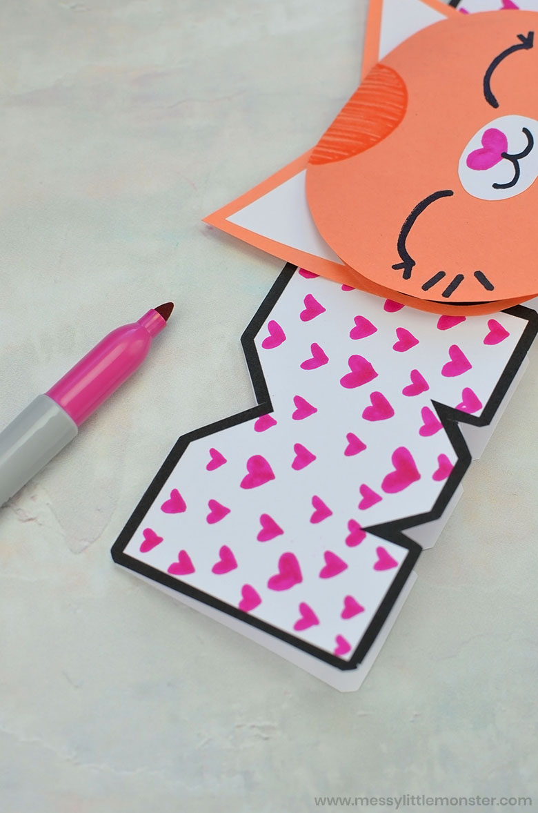 Handmade Mothers day card for kids to make