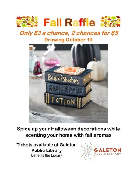 10-19 Drawing For Galeton Library Raffle