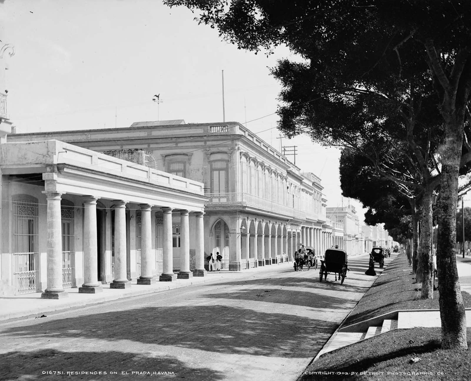 Residences on Paseo del Prado. 1903.