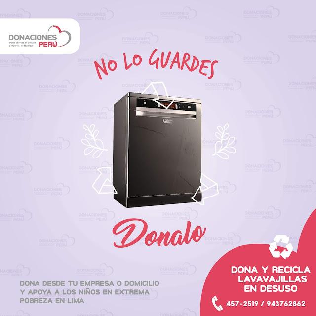 Dona lavavajillas - recicla lavavajillas - dona y recicla - recicla y dona - no lo tires - reciclalo