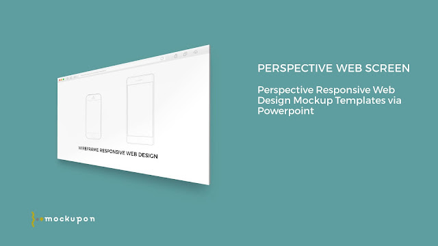 Powerpoint Web UI 1 Screen Mockup Templates to the right