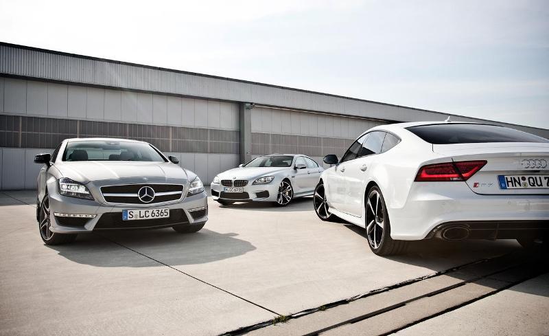 Mercedes-Benz CLS 63 AMG vs BMW M6 Gran Coupe vs Audi RS7