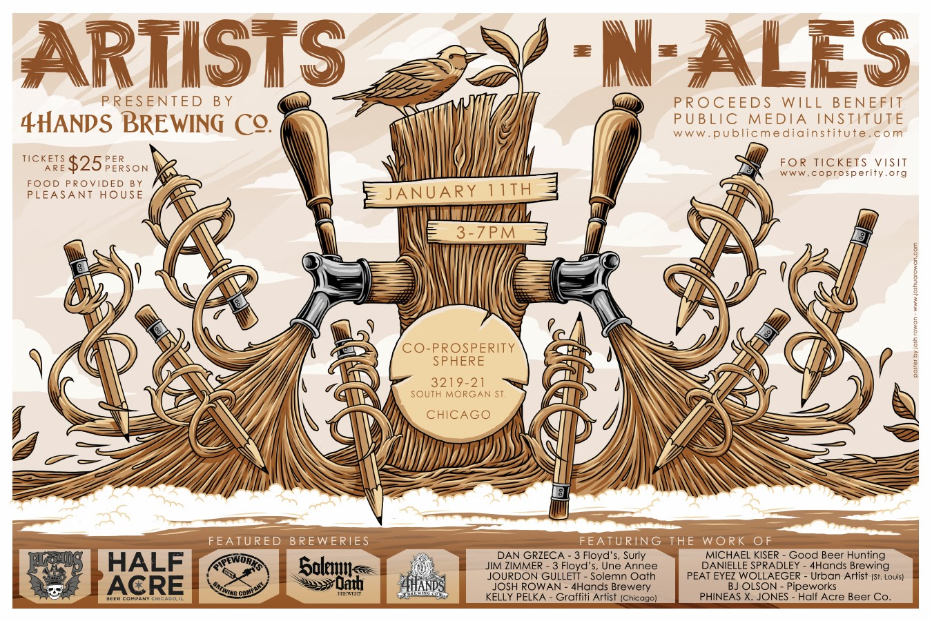 Hail To The Ale: 4 Hands Brewing Presents a Uniquely Inspired Event