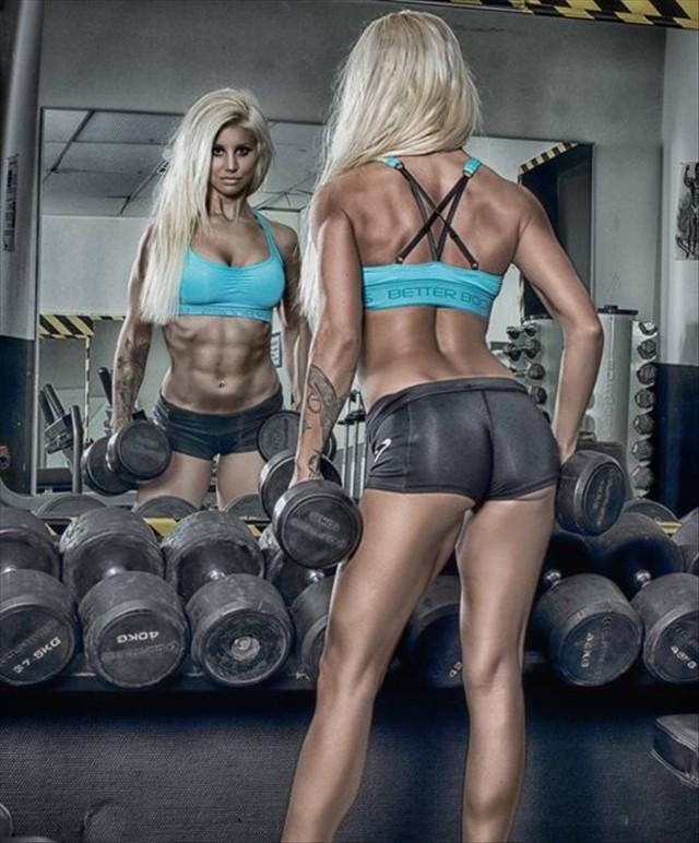 Sandra Reiche Fitness Model photoshoot