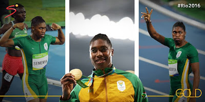 The Queen of South African athletics, Caster Semenya