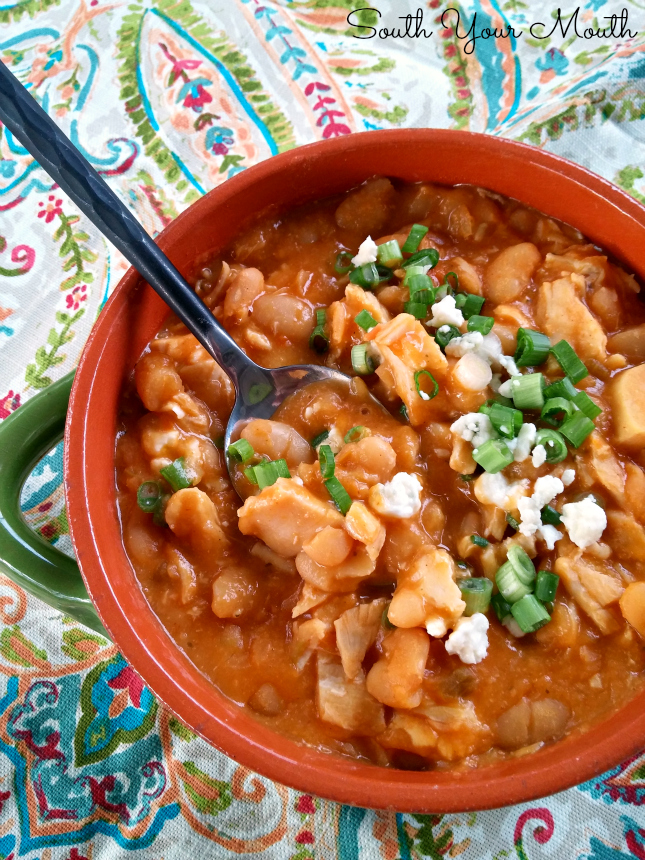 Buffalo Chicken Chili!  All the great taste of hot wings in an easy recipe with layers of amazing flavor.