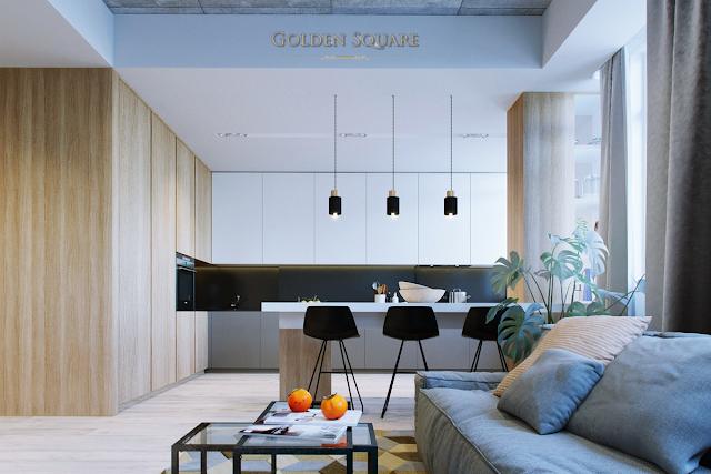 Phòng bếp chung cư Golden Square Đà Nẵng