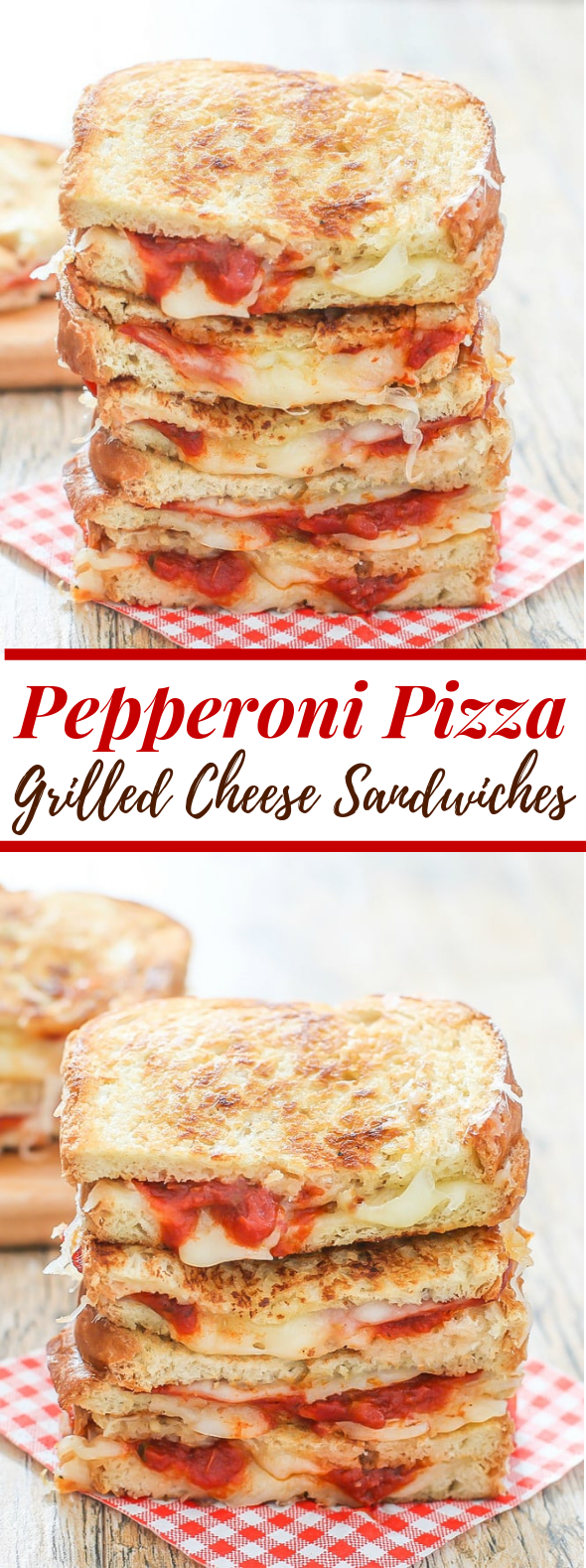 PIZZA GRILLED CHEESE SANDWICH #partyfood #lowfat