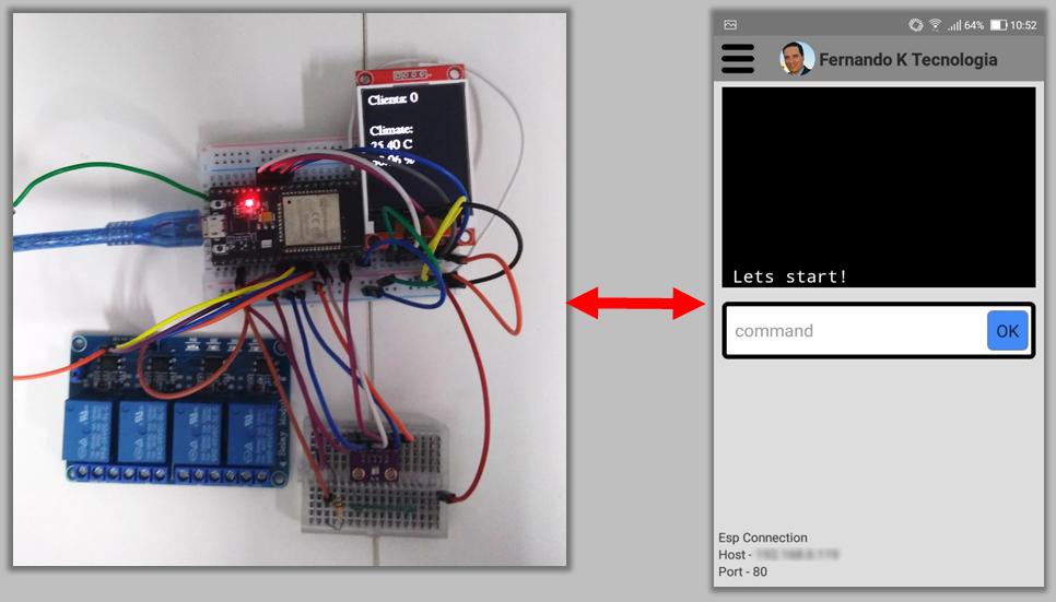 Automação com AppFernandoK e ESP32 - Fernando K Tecnologia