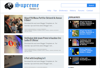 Supreme Fast Loads Blogger Theme