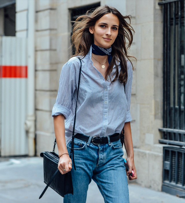 What to wear with bandana, street style paris fashion week