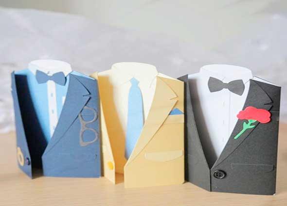tarjetas, hombres, felicitación, día del padre, hombres, papel, manualidades
