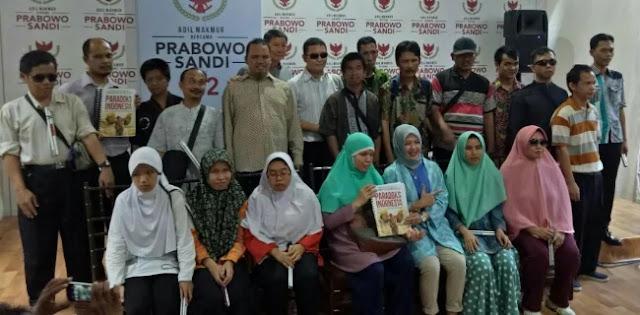Penyandang Disablitas Indonesia Salut Dengan Kepedulian Prabowo-Sandi