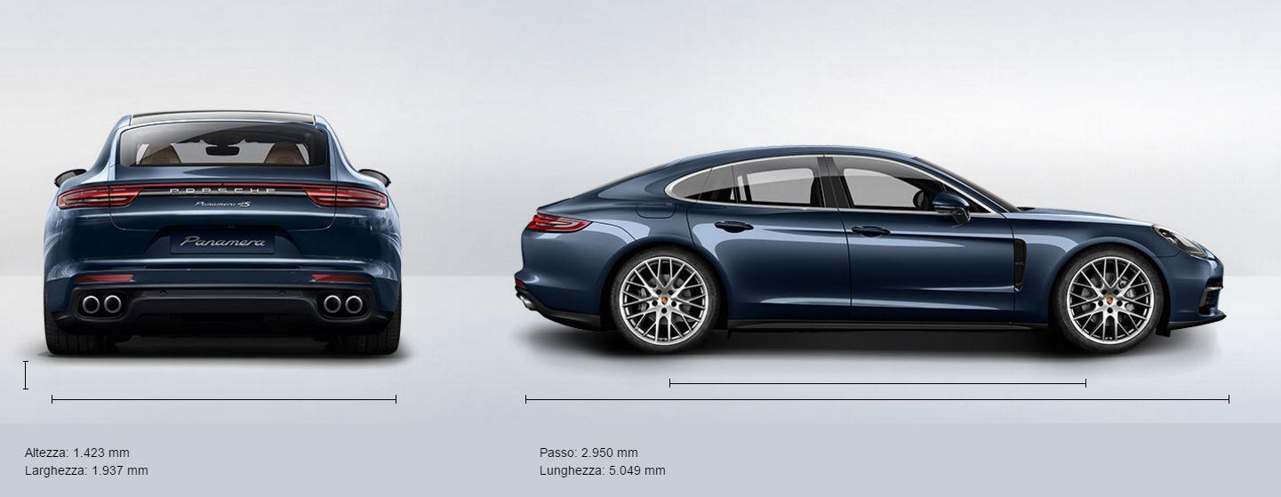 Nuova Porsche Panamera 2017 Dimensioni e Misure bagagliaio