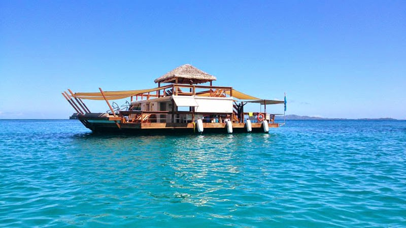 Cloud 9 Fiji, the Floating Bar in the Middle of the Ocean