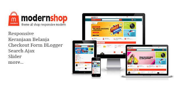 Modernshop Responsive Blogger Template