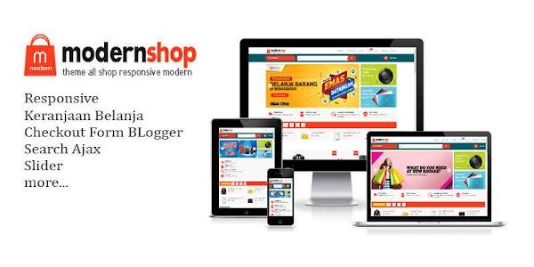 Modernshop Premium Blogger Template