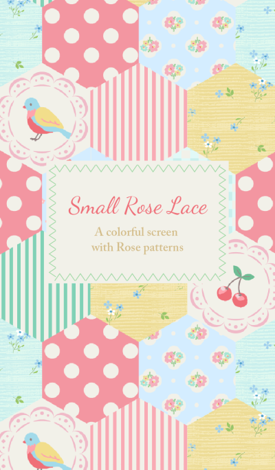 Rose flower patchwork