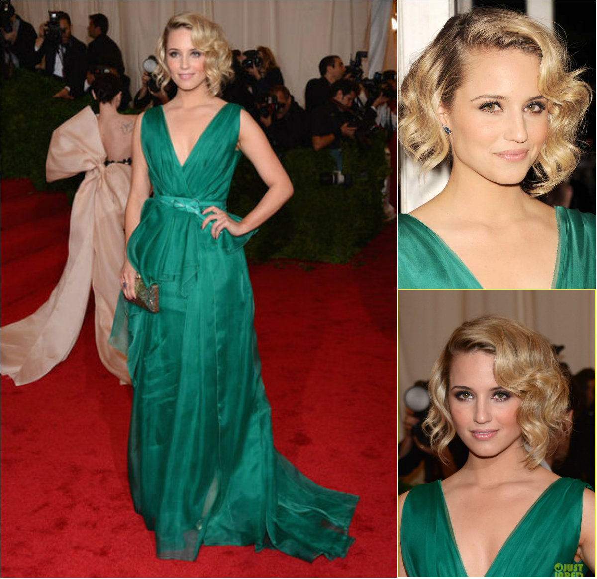 fashion tips of gaby: diana agron ---celebrity hairstyles and short